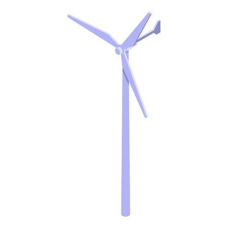 Wind turbine tower icon, isometric style