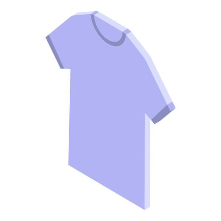 Shop assistant tshirt icon, isometric style Vettoriali