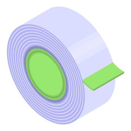 Masking tape icon, isometric style Stock Illustratie