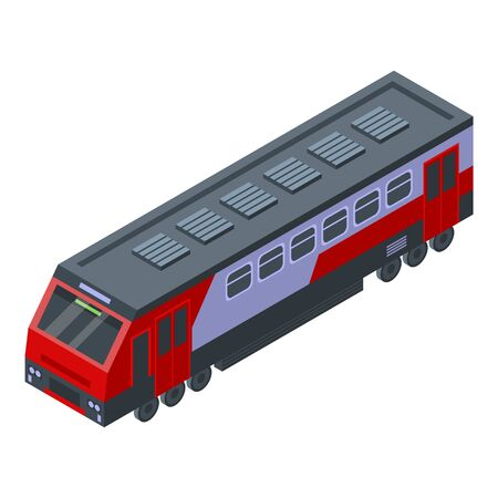 Modern electric train icon. Isometric of modern electric train vector icon for web design isolated on white background Stock Illustratie