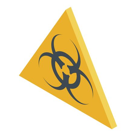 Biohazard sign icon. Isometric of biohazard sign vector icon for web design isolated on white background Illustration