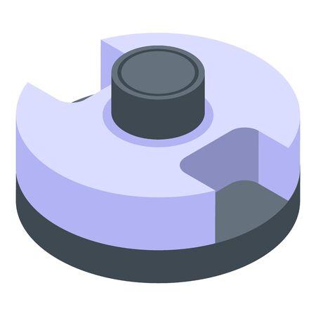Hole puncher accessory icon. Isometric of hole puncher accessory vector icon for web design isolated on white background Ilustração