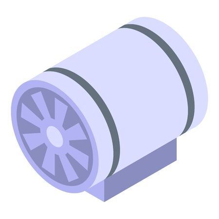 Ventilation tube icon. Isometric of ventilation tube vector icon for web design isolated on white background