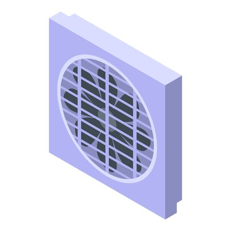 Air condition ventilation icon, isometric style 向量圖像