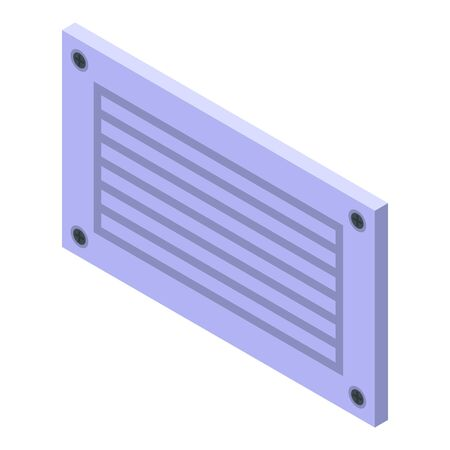 Wind ventilation icon, isometric style Stock Illustratie
