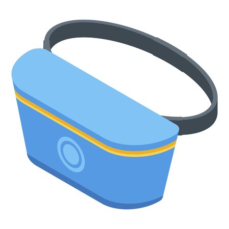 Fashion waist bag icon, isometric style