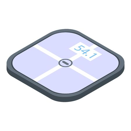 Active smart scales icon. Isometric of active smart scales vector icon for web design isolated on white background