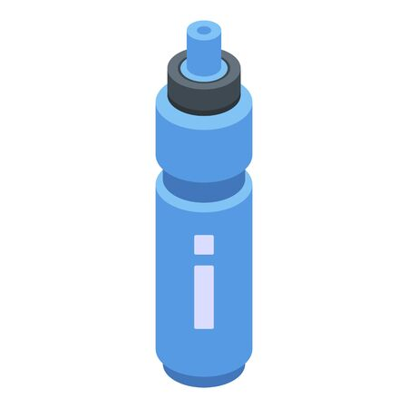 Gym sport water bottle icon, isometric style Illustration