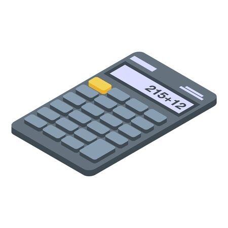 Accounting calculator icon. Isometric of accounting calculator vector icon for web design isolated on white background