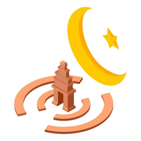 Islam culture icon, isometric style