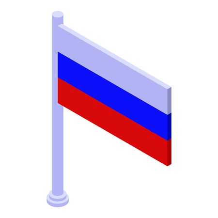 Russia flag icon, isometric style