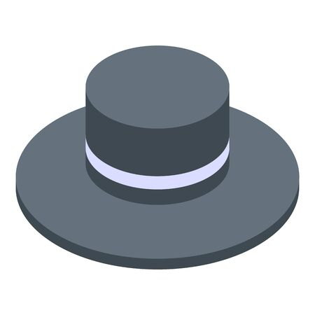 Hat icon, isometric style Stock Illustratie