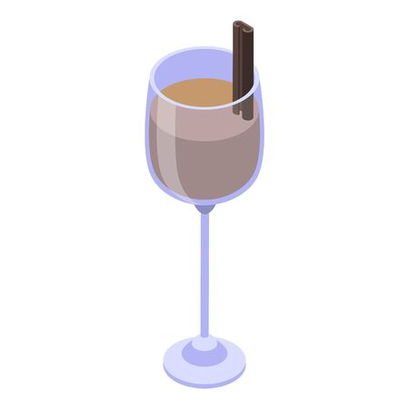 Cacao sweden drink icon, isometric style