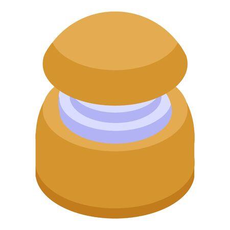 Swedish cupcake icon, isometric style