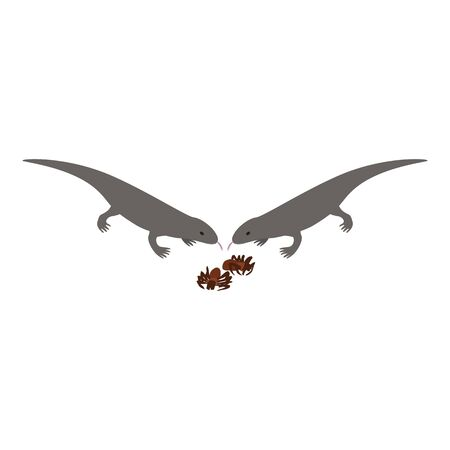 Desert animal icon, isometric style  イラスト・ベクター素材