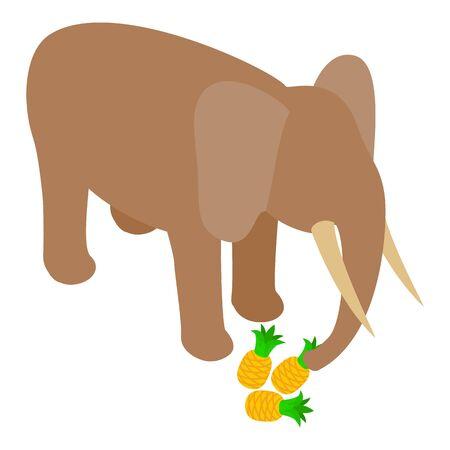Elephant icon, isometric style Reklamní fotografie - 150555130