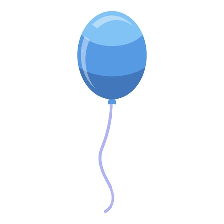Kid blue balloon icon. Isometric of kid blue balloon vector icon for web design isolated on white background Illustration