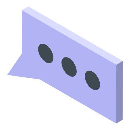 Reputation chat icon, isometric style