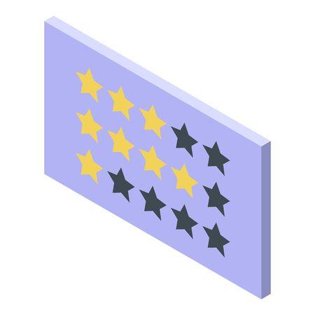 Stars reputation icon, isometric style Stock Illustratie