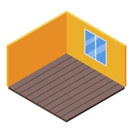 Empty childrens room icon, isometric style
