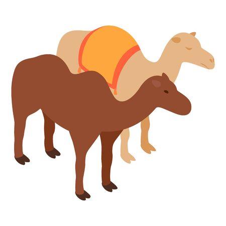 Camel icon, isometric style Ilustracja