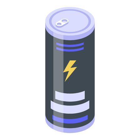 Deadline energy drink icon, isometric style