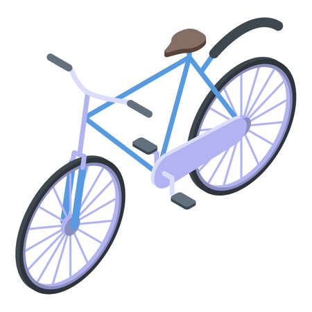 Swedish bicycle icon, isometric style