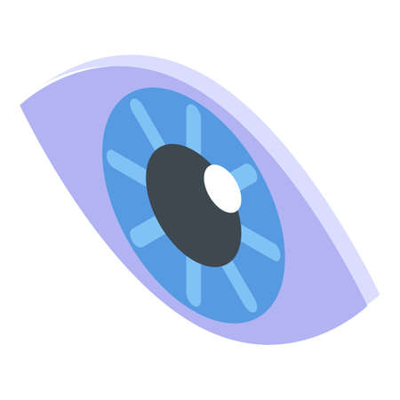 Eye icon. Isometric of eye vector icon for web design isolated on white background Ilustrace