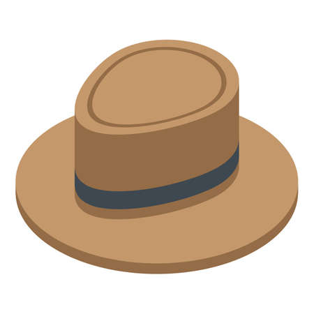 Hat icon, isometric style Illustration