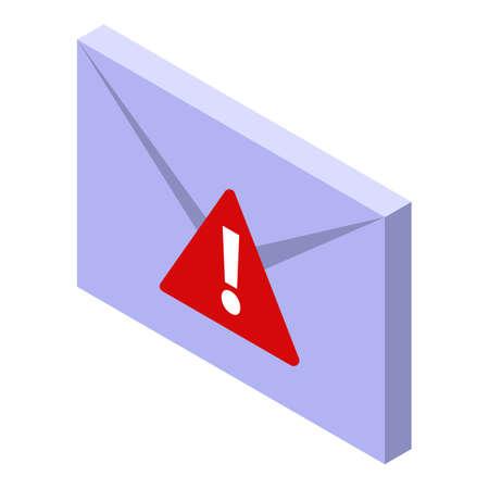 Fraud mail virus icon, isometric style