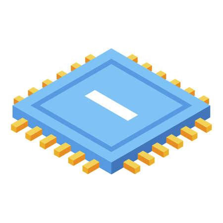 Processor storage icon, isometric style Ilustracja