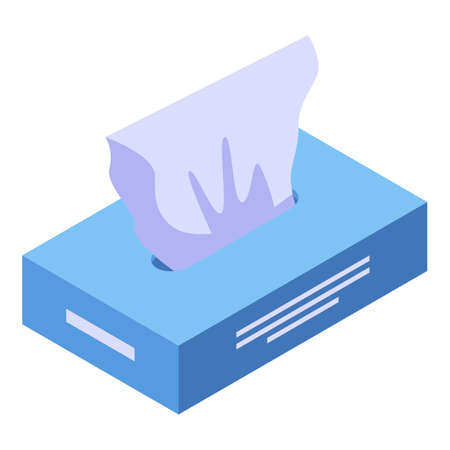 Wet wipes icon, isometric style