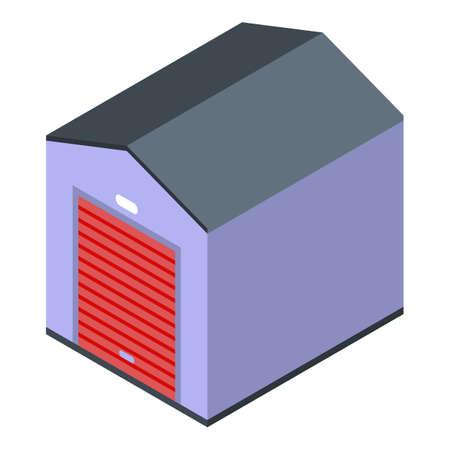 Warehouse icon, isometric style Ilustracja