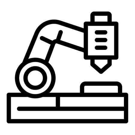 Cutter lathe icon, outline style