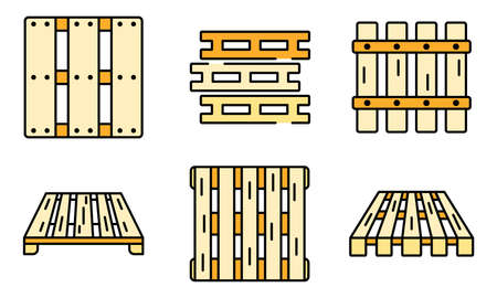 Pallet icons vector flat