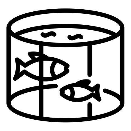 Fish farm pool icon, outline style