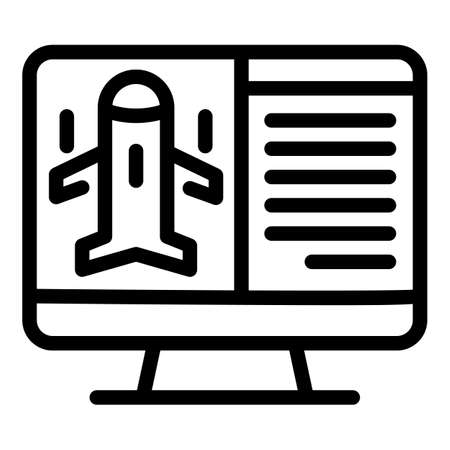 Fly online search icon, outline style