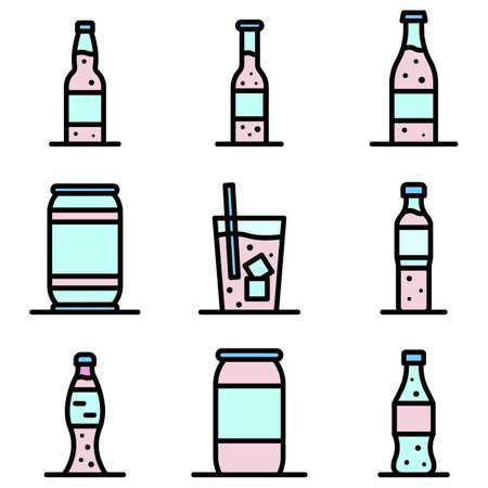 Soda icons vector flat  イラスト・ベクター素材