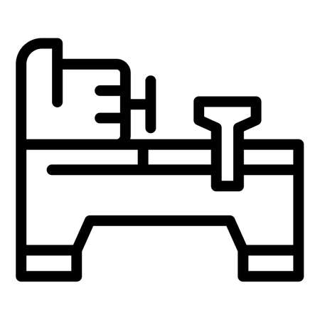 Grinding lathe icon, outline style