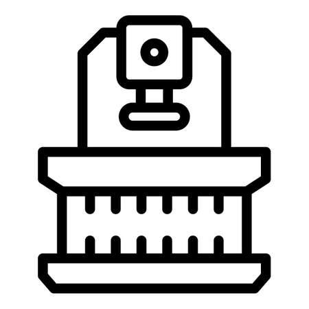 Lathe press icon, outline style
