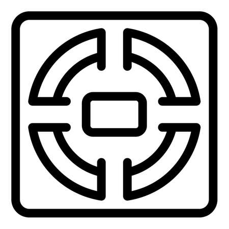 Monitor smart scales icon, outline style