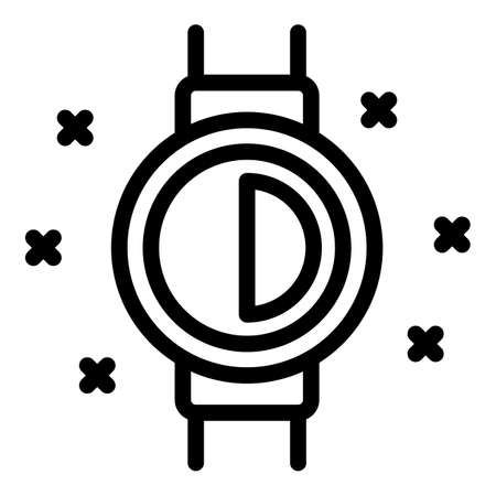 Sport gym watch icon, outline style