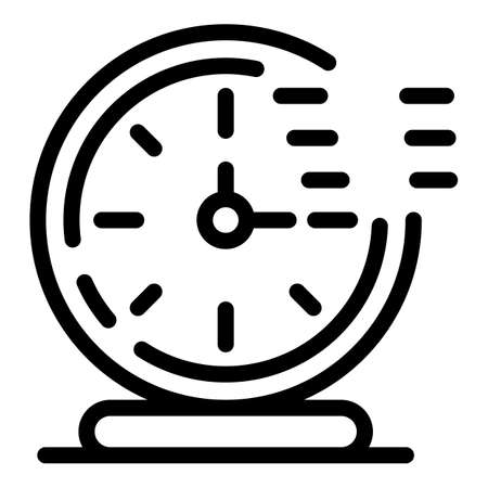 Timer clock stopwatch icon, outline style 向量圖像