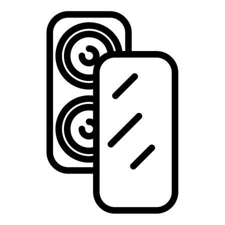 Screen protector icon, outline style