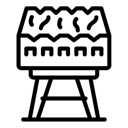 Camping brazier icon, outline style