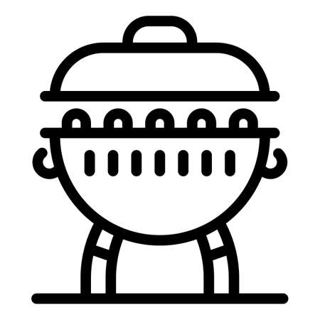 Charcoal brazier icon, outline style