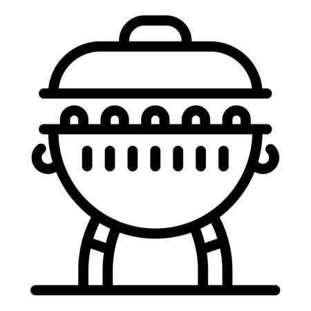Charcoal brazier icon, outline style Banco de Imagens - 150745735