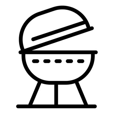 Open brazier icon, outline style