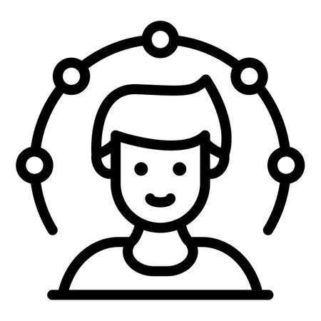 Advisory broker icon, outline style Çizim