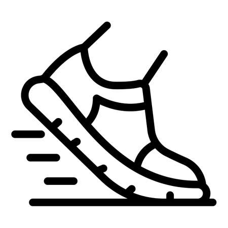 Running shoe icon, outline style